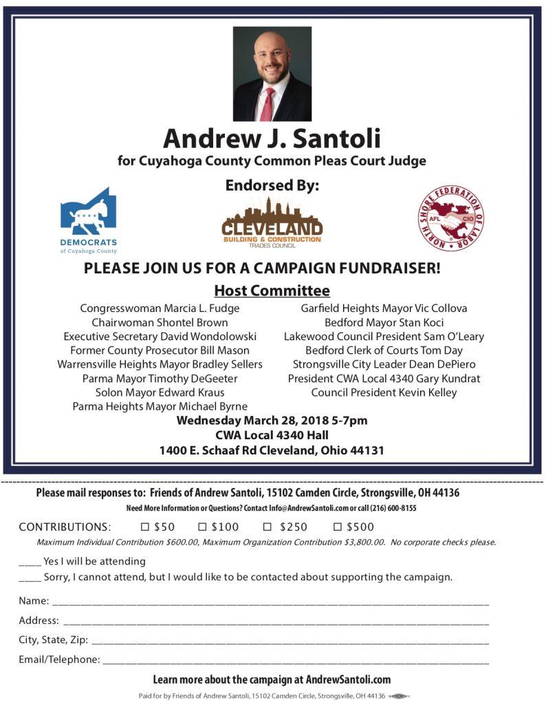 Andrew J. Santoli for Judge March 2018 Fundraiser